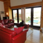 Sycamore living area - 5 star self catering accommodation, Powys, Mid Wales