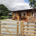 Ash Lodge entrance - Lon Lodges, Rhayader, Powys, Mid Wales