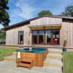 Sycamore Lodge hot tub - Lon Lodges, Rhayader, Powys, Mid Wales