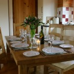 Mid Wales holiday accommodation at Lon Lodges - Dining table