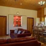Sycamore living room - Luxury hot tub holiday accommodation in Wales