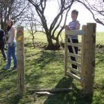 lon lodges gate, Lon Lodges Farm Walks & Nature Trails, Powys, Mid Wales