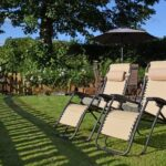 Sycamore Lodge relaxing sun loungers