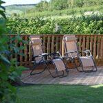 Ash Lodge relaxing sun loungers