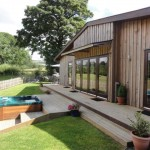 Sycamore Lodge holiday accommodation at Lon Lodges, Rhayader, Powys, Mid Wales