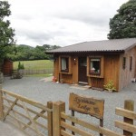 Sycamore Lodge entrance - Lon Lodges, Rhayader, Powys, Mid Wales
