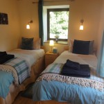 Twin bedroom - Luxury hot tub holiday accommodation in Wales