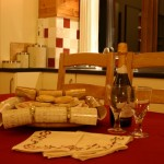 Lon Lodges self catering cottage holidays - Christmas bubbly and mince pies