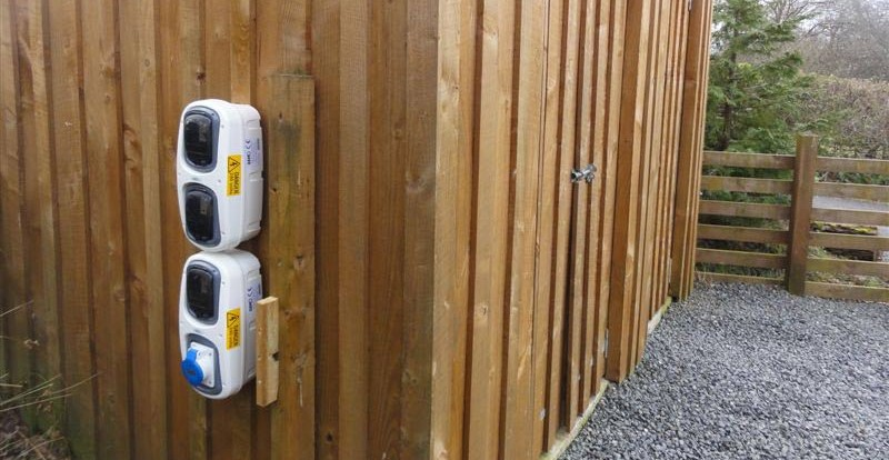 Vehicle Charging Station installed at Lon Lodges, Wales