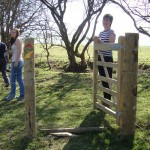 lon lodges gate, Lon Lodges Farm Walks & Nature Trails, Powys, Mid Wales