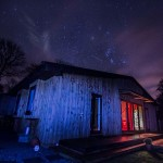 Starry sky watching at Lon Lodges, Nantmel, Powys, Mid Wales